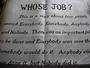 Whose Job? Novelty Tea Towel
