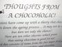 Thoughts from a Chocoholic - Humorous Tea Towel