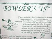Bowler's If Novelty Tea Towel