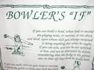 Bowler's If Novelty Tea Towel - Image 1