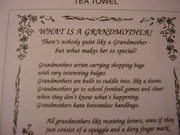 What is a Grandmother? Novelty Tea Towel