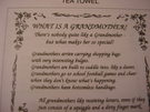 What is a Grandmother? Novelty Tea Towel - Image 1