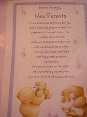 Forever Friends New Parents Tea Towel