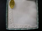 Boxed beautiful linen hankie for Wedding - Image 2