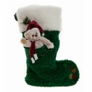 Berry Green Charlie bear Christmas Stocking - Image 1