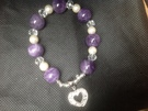 Amythest , Crystal and Freshwater Pearl stretch  bracelet - Image 1