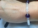Crystal and Amethyst Elasticated bracelet - Image 1