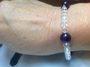 Crystal and Amethyst Elasticated bracelet