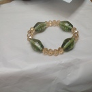 Crystal and large Glass Elasticated bracelet - Image 1