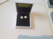 Freshwater Pearl Earrings set in Sterling Silver