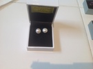 Freshwater Pearl Earrings set in Sterling Silver - Image 1