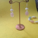 Rose Quartz Earrings - Image 2