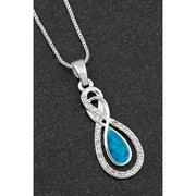 Sea Breeze Eternity Silver Plated Necklace