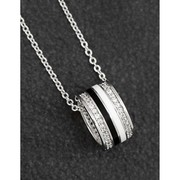 Silver plated Black and silver necklace