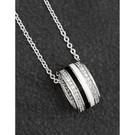 Silver plated Black and silver necklace - Image 1