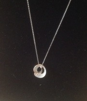 925 two tone  sterling silver necklace