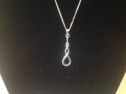 925 Sterling Silver twisted necklace