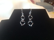 925 Sterling Silver twisted Earrings