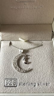 925 Sterling Silver Moon Necklace