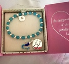 Mermaid children's bracelet with charm - Image 1