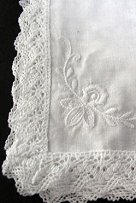 Lace Hankerchiefs for weddings, tissue box covers and wedding garters from Simply Windsor Gifts